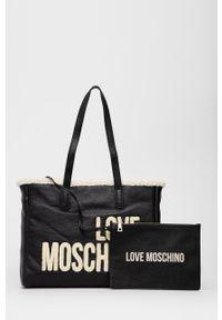 Love Moschino - Torebka. Kolor: czarny. Rodzaj torebki: na ramię