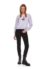 Fioletowa bluza TOP SECRET z nadrukiem
