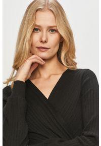 Czarny sweter Haily's długi, na co dzień, z długim rękawem