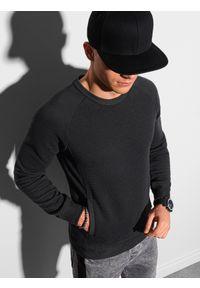 Czarna bluza Ombre Clothing bez kaptura