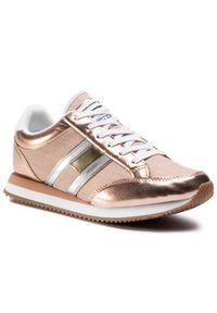 Różowe buty sportowe Tommy Jeans na co dzień