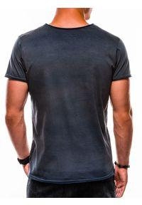 Niebieski t-shirt Ombre Clothing #4