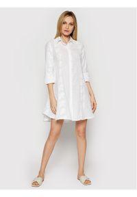 Biała sukienka koszulowa