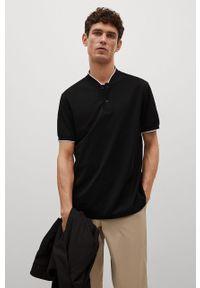 Czarna koszulka polo Mango Man polo, na co dzień