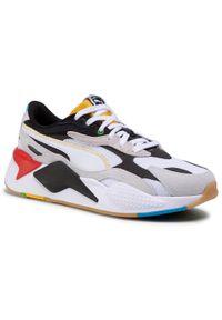 Białe buty sportowe Puma z cholewką, do biegania