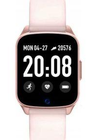 Różowy zegarek Rubicon smartwatch