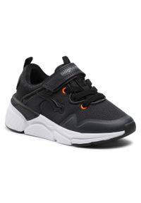 Bagheera - Sneakersy BAGHEERA - Vision Jr 86487-2 C0162 Black/Orange. Okazja: na co dzień. Zapięcie: rzepy. Kolor: czarny. Materiał: materiał. Szerokość cholewki: normalna. Styl: casual