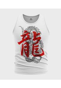 MegaKoszulki - Koszulka męska bez rękawów Smok kanji. Materiał: bawełna. Długość rękawa: bez rękawów