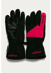 Różowe rękawiczki Viking z aplikacjami