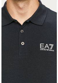 EA7 Emporio Armani - Longsleeve. Okazja: na co dzień. Kolor: niebieski. Materiał: dzianina. Długość rękawa: długi rękaw. Długość: krótkie. Wzór: gładki. Styl: casual