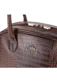 Brązowa shopperka Wittchen elegancka