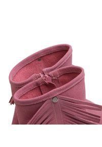 Bartek - Kozaki BARTEK - 17233016-000 Róż. Wysokość cholewki: przed kolano. Kolor: różowy. Materiał: skóra, zamsz. Szerokość cholewki: normalna. Wzór: aplikacja