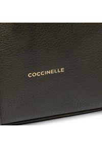 Czarna torebka worek Coccinelle casualowa, zdobiona