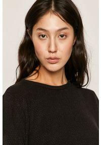 Czarny sweter Jacqueline de Yong z długim rękawem, długi