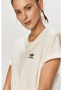 Biała bluzka adidas Originals gładkie, na co dzień, casualowa