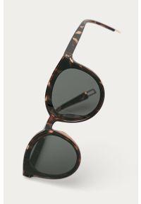 Czarne okulary przeciwsłoneczne Answear Lab gładkie, owalne #3