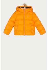 Pomarańczowa kurtka TOMMY HILFIGER na co dzień, z kapturem, casualowa