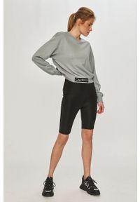 Zielona bluza Calvin Klein Performance z nadrukiem, casualowa, długa, z długim rękawem