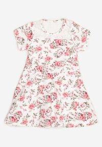 Born2be - Biało-Różowa Sukienka Thalali. Kolor: biały