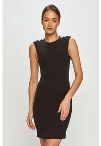 Czarna sukienka Pinko gładkie, na spotkanie biznesowe, bez rękawów