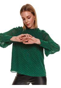 Zielona bluzka TOP SECRET z długim rękawem, długa