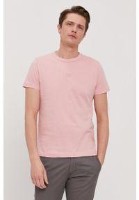 TOMMY HILFIGER - Tommy Hilfiger - T-shirt. Okazja: na co dzień. Kolor: różowy. Materiał: dzianina. Wzór: gładki. Styl: casual