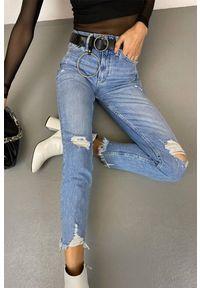 Niebieskie jeansy IVET z podwyższonym stanem, na co dzień