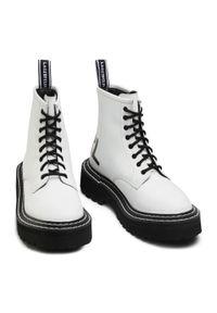 Białe buty trekkingowe Karl Lagerfeld
