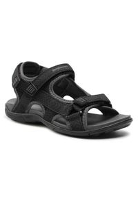 Bagheera - Sandały BAGHEERA - Onyx 86489-2 C0102 Black/Dark Grey. Okazja: na co dzień. Kolor: czarny. Materiał: materiał. Sezon: lato. Styl: casual