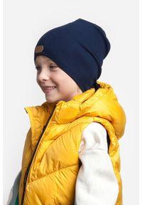 Czapka dziecięca z bawełny PaMaMi - Ciemnoszary. Kolor: szary. Materiał: elastan, bawełna. Sezon: wiosna