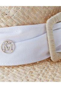 MAISON MICHEL PARIS - Beżowy kapelusz Virginie. Kolor: beżowy. Wzór: aplikacja