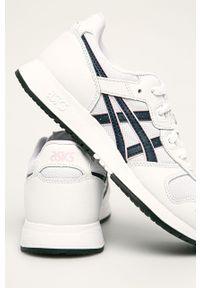 Białe buty sportowe Asics Tiger na obcasie, na średnim obcasie, z cholewką