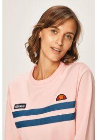 Różowa bluza Ellesse bez kaptura, casualowa, na co dzień