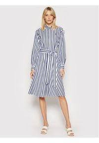 Polo Ralph Lauren Sukienka koszulowa Lsl 211836475001 Kolorowy Regular Fit. Typ kołnierza: polo. Kolor: niebieski. Wzór: kolorowy. Typ sukienki: koszulowe