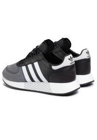 Czarne półbuty Adidas na co dzień, casualowe, z cholewką