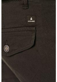 Czarne spodnie Jack & Jones casualowe, gładkie, na co dzień