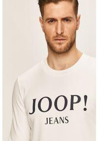 Biała bluza nierozpinana JOOP! z okrągłym kołnierzem, z nadrukiem