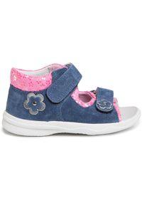 Superfit - Sandały SUPERFIT - 6-00095-81 S Blau/Rosa. Kolor: niebieski. Materiał: skóra, zamsz, materiał. Wzór: aplikacja