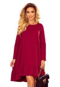 Czerwona sukienka Numoco trapezowa