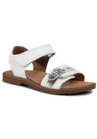 Białe sandały Imac na lato, z aplikacjami