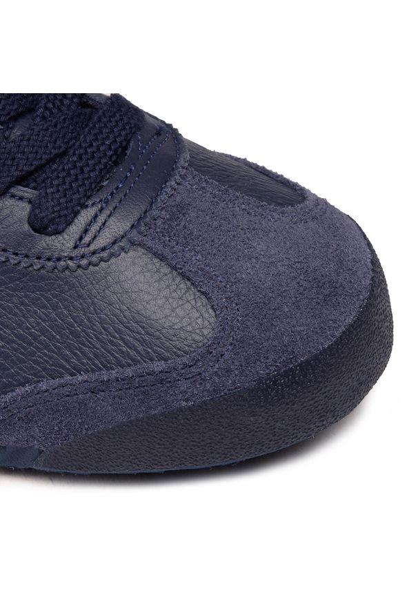 Niebieskie buty sportowe Onitsuka Tiger na co dzień, z cholewką