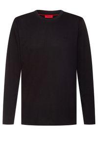 Czarna koszulka z długim rękawem Hugo