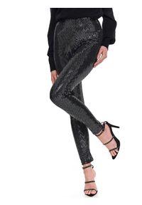Czarne legginsy TOP SECRET z podwyższonym stanem, na imprezę