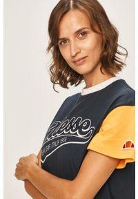 Niebieska bluzka Ellesse z aplikacjami