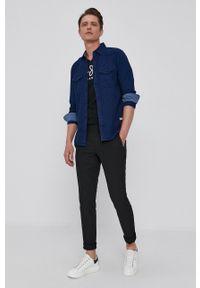 Pepe Jeans - T-shirt Original. Okazja: na co dzień. Kolor: czarny. Materiał: dzianina. Wzór: nadruk. Styl: casual