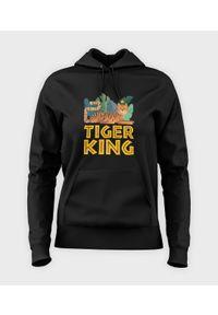 MegaKoszulki - Bluza damska z kapturem Tiger King. Typ kołnierza: kaptur