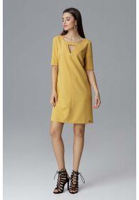 Żółta sukienka Figl prosta