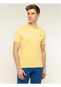 Polo Ralph Lauren Polo 710541705 Żółty Slim Fit. Typ kołnierza: polo. Kolor: żółty