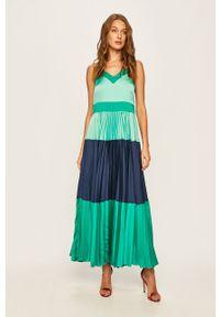 Sukienka TwinSet maxi, na ramiączkach, rozkloszowana