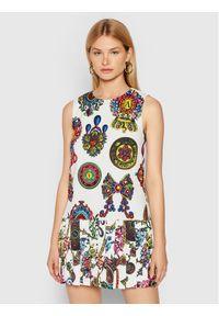 Versace Jeans Couture Sukienka codzienna 71HAO926 Biały Regular Fit. Okazja: na co dzień. Kolor: biały. Typ sukienki: proste. Styl: casual